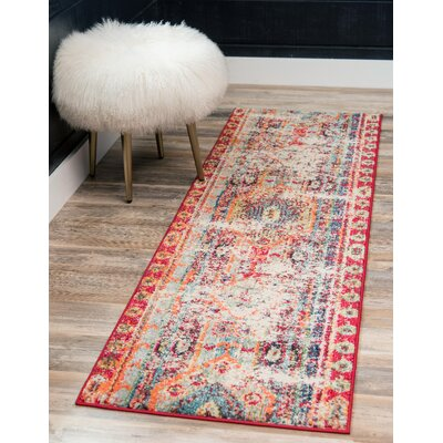Pilger Cherry/Pink Area Rug Rug Size: Runner 22 x 6
