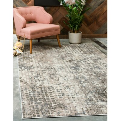 Piotrowski Gray Area Rug Rug Size: Rectangle 4 x 6