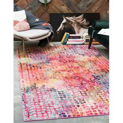 Piotrowski Cotton Candy Area Rug Rug Size: Rectangle 4' x 6'