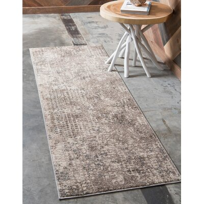 Piotrowski Gray Area Rug Rug Size: Runner 22 x 6