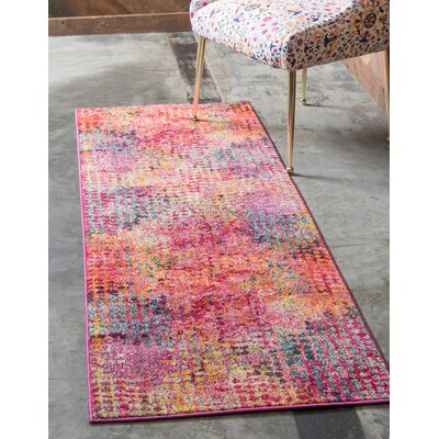 Piotrowski Cotton Candy Area Rug Rug Size: Runner 27 x 10