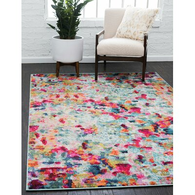 Piotrowski Light Red Area Rug Rug Size: Rectangle 5 x 8
