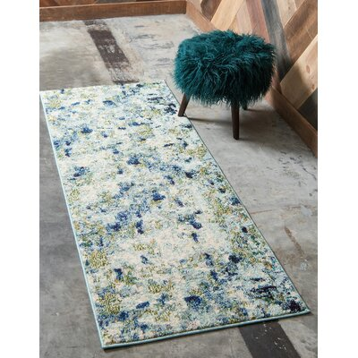 Piotrowski Light Blue Area Rug Rug Size: Runner 22 x 6