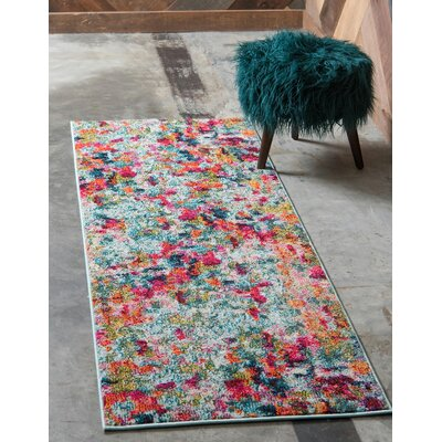 Piotrowski Light Red Area Rug Rug Size: Runner 27 x 10