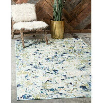 Piotrowski Light Blue Area Rug Rug Size: Rectangle 106 x 165