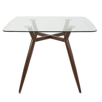 Canisteo Dining Table Base Color: Clear/Walnut