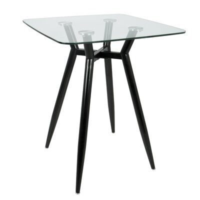Canisteo Pub Table Color: Clear/Black