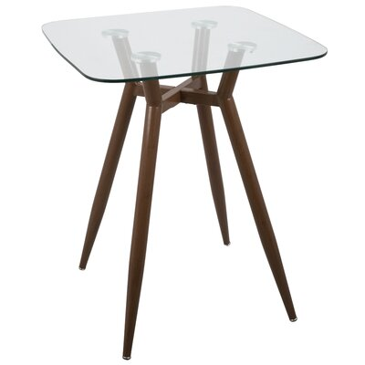 Canisteo Pub Table Color: Clear/Walnut