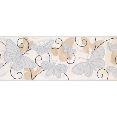 Room to Grow Butterfly Wall Border Color: Cream/Gray BS5402B
