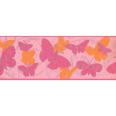 Room to Grow Butterfly Wall Border Color: Orange/Pink BS5406B
