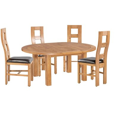 Carbajal 5 Piece Breakfast Nook Dining Set Color: Natural Oak