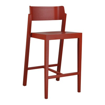 Maas 25.5 Bar Stool Color: Red