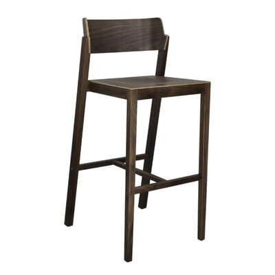 Sinclair 29 Bar Stool Color: Walnut