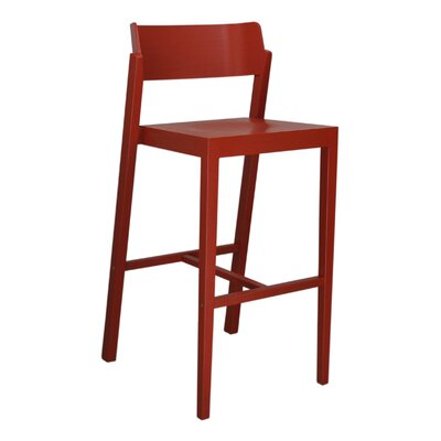 Sinclair 29 Bar Stool Color: Red