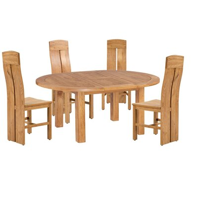 Kiazolu 5 Piece Extendable Breakfast Nook Dining Set Color: Natural Oal