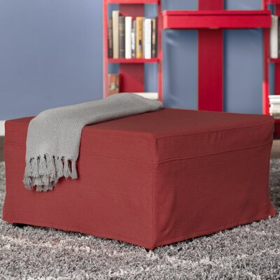 Standard Folding Bed with Mattress Color: Sunrise Red