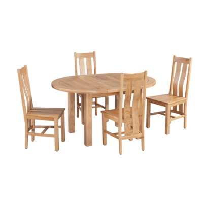 Ransom 5 Piece Extendable Breakfast Nook Dining Set Color: Natural Oak