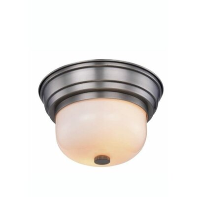 Brys 2-Light Flush Mount Finish: Vintage Nickel