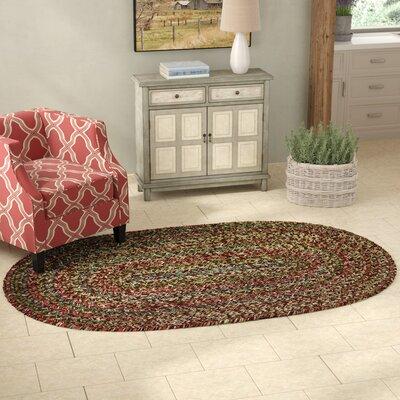 Valla Brown Indoor/Outdoor Area Rug Rug Size: Oval 5 x 8