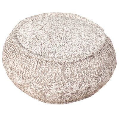 Hawley Melange Cable Knit Pouf