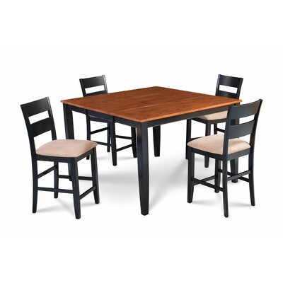 Almodovar 5 Piece Counter Height Extendable Dining Set Table Top Color: Cherry