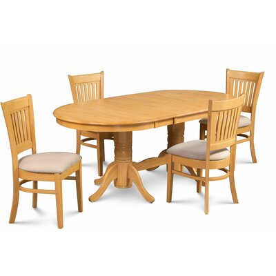 Miriam Wooden 5 Piece Extendable Dining Set Color: Oak