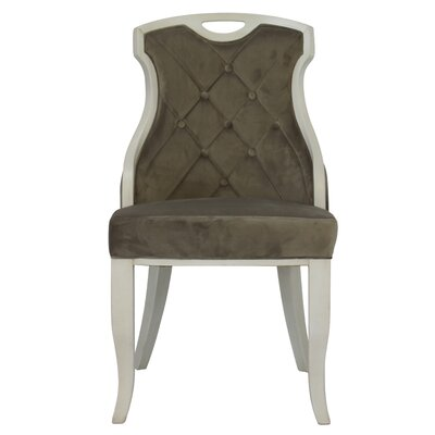 Trotman Velvet Serenity Upholstered Dining Chair Upholstery Color: Mocha