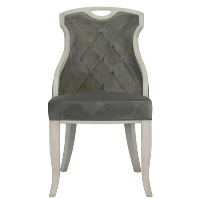 Trotman Velvet Serenity Upholstered Dining Chair Upholstery Color: Gray