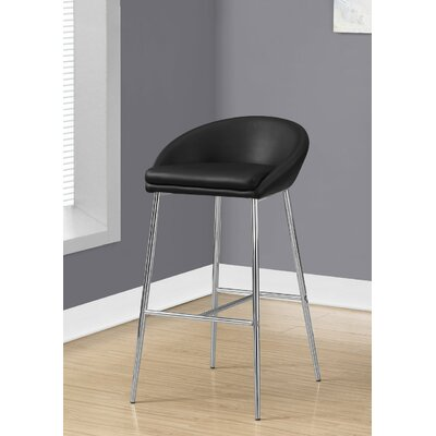 Crews 24 Bar Stool Color: Black