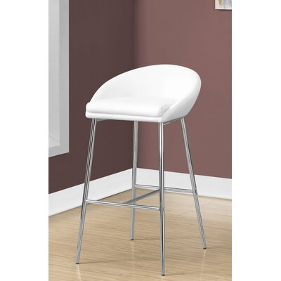 Crews 24 Bar Stool Color: White