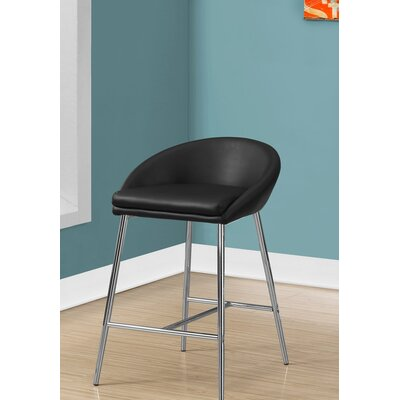Crichton 30 Bar Stool Color: Black