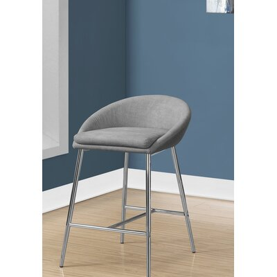Crichton 30 Bar Stool Color: Gray