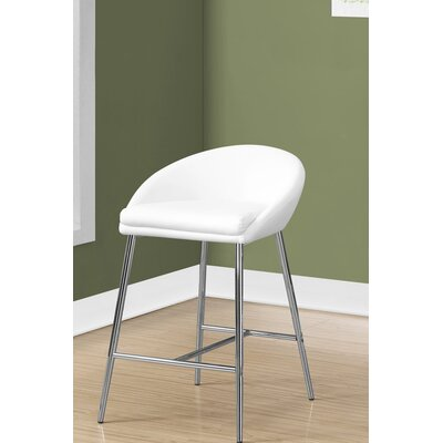 Crichton 30 Bar Stool Color: White
