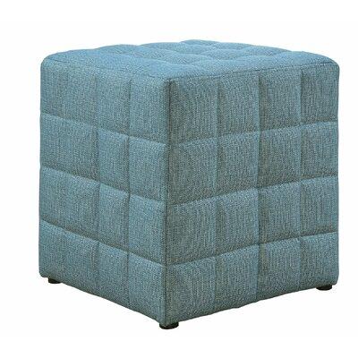 Dysart Cube Ottoman Upholstery: Light Blue