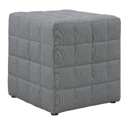 Dysart Cube Ottoman Upholstery: Light Gray