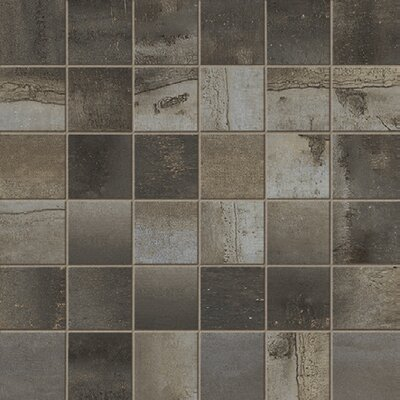 Steelwalk 2 x 2 Porcelain Mosaic Tile in Dark Gray