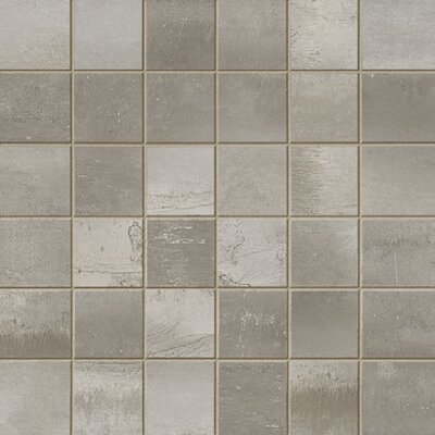 Steelwalk 2 x 2 Porcelain Mosaic Tile in Gray