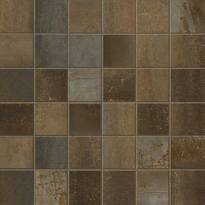 Steelwalk 2 x 2 Porcelain Mosaic Tile in Brown