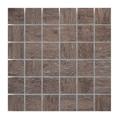 2 x 2 Porcelain Mosaic Tile in Tabacco