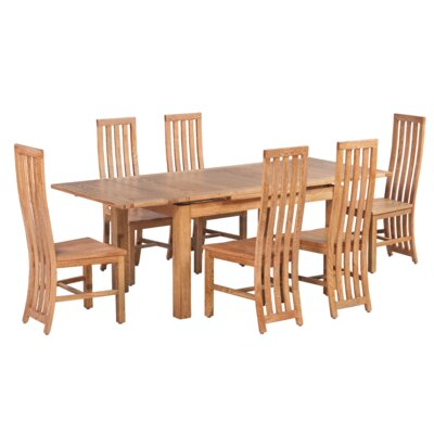 Arreola 7 Piece Extendable Dining Set Color: Natural Oak
