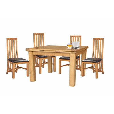 Arreola 5 Piece Extendable Dining Set Color: Natural Oak