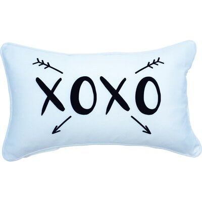 Huson Valentines Day Xoxo Indoor/Outdoor Lumbar Pillow