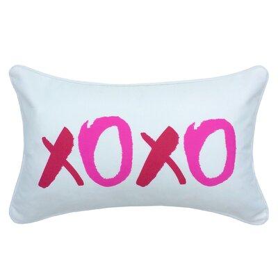 Hust Valentines Day Xoxo Indoor/Outdoor Lumbar Pillow