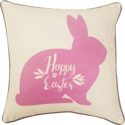 Fellman Happy Easter Bunny Indoor/Outdoor Throw Pillow