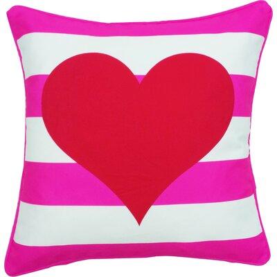 Margate Valentines Day Heart Stripe Indoor/Outdoor Throw Pillow
