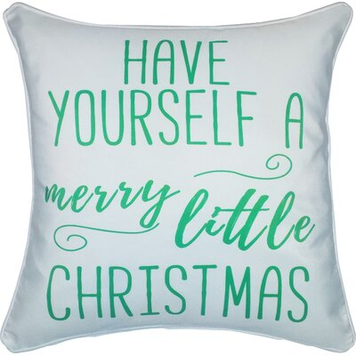 Fellows Have Yourself a Merry Little Christmas Indoor/Outdoor Throw Pillow