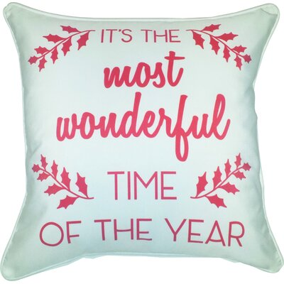 Fells Its the Most Wonderful Time of the Year Indoor/Outdoor Throw Pillow