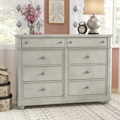 Saguenay 8 Drawer Double Dresser Color: Dove Gray