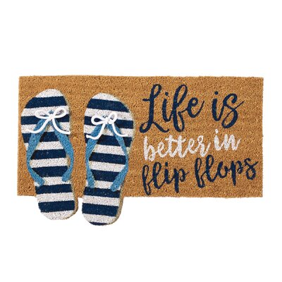 Flip Flop Beach House Doormat