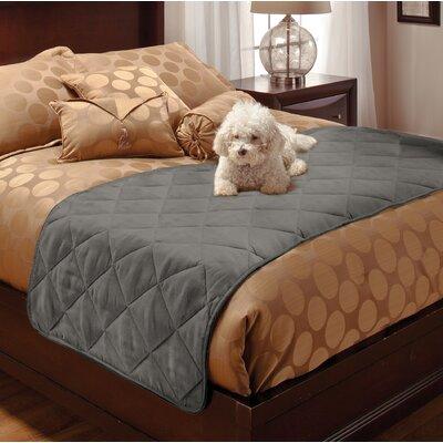 Faux Suede Mat Size: 75 W x 29 D x 0.25 H, Color: Gray
